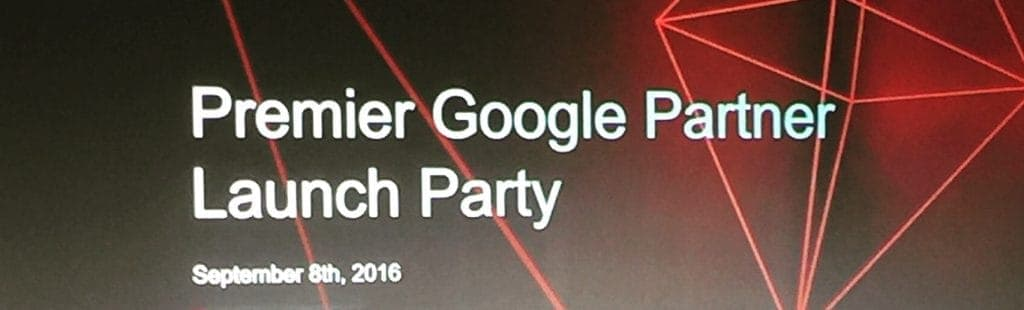 Google Premier Agency Launch